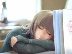девушка, school, спать