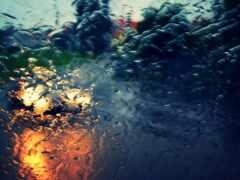 drop, car, дождь