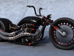 мотоциклы, chopper, чёрный