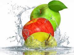 яблоки, water, сочный
