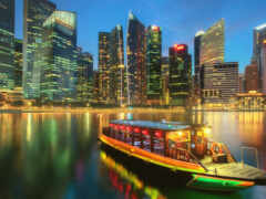 singapore, ночь, bay