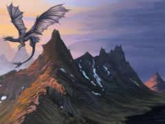 дракон, полет Фон № 8162 разрешение 2560x1600