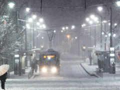 снег, winter, город