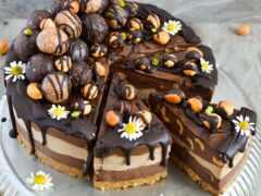 chocolate, торт, german