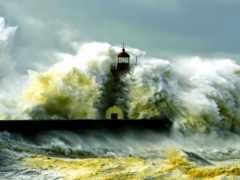 маяк, шторм Фон № 31943 разрешение 1920x1080