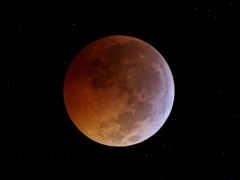 луна, космос, затмение