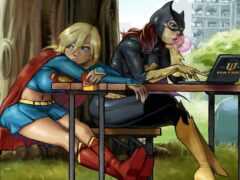supergirl, batgirl, gordon