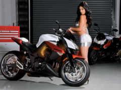 мотоциклы, девушками, kawasaki