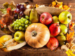 осень, урожай, фрукты