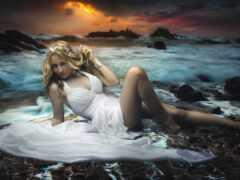 женщина, fantasy, scene