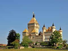 switzerland, castles, cities