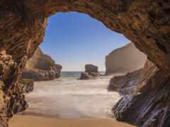 пещера, море, пляж