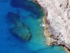blue, море