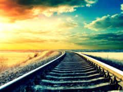 железная дорога и небо