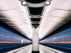 empty, поезд, станция