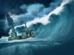 fantasy, апокалипсис, waves