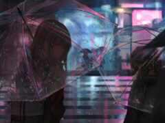 anime, дождь, anim