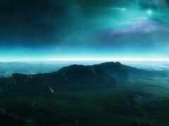 alien, landscape, world