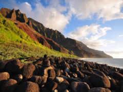 побережье, пали, kauai