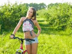 девушка, велосипедом, girls
