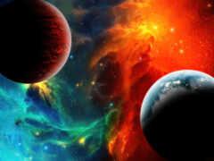 космос, nebula, risunok