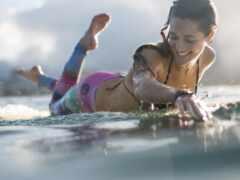 девушка, сёрфинг, спорт