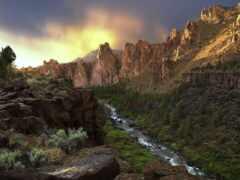 гора, река, природа