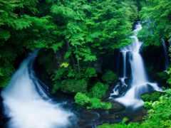 водопад, nikko, ryuzu