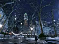 нью, york, winter