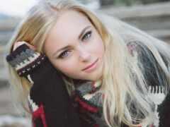актриса, blonde, день