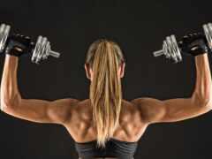 спина, упражнение, девушка