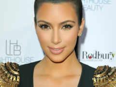 kim, kardashian, глаз