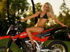 aprilia, мотоцикл, motodevushka
