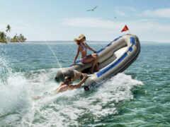 лодка, motor, девушка