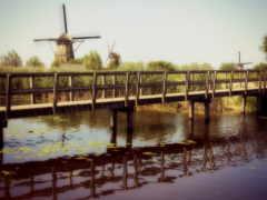 мельницы, landscape, река