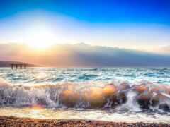 море, волна, природа