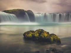 iceland, iphone, водопад