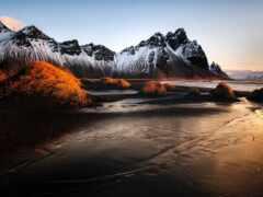 iceland, гора, black