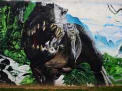 rex, динозавр, graffiti
