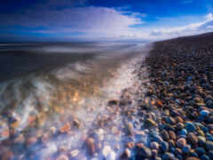 камень, пляж, море