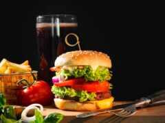 гамбургер, fastfudyi, die