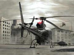 вертолет, white, авиация