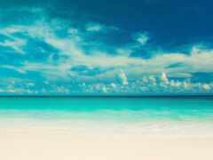 море, небо, пляж