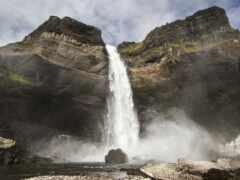 iceland, водопад, crag