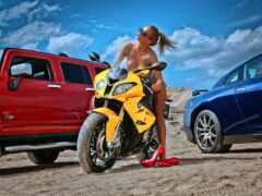 девушка, мото, мотоцикл