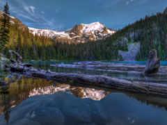 канада, горы, озеро