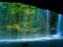 водопад, rock, screensaver