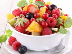 салат, плод, киви
