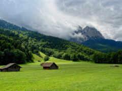 гора, summer, plain