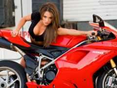 девушки, мотоциклы, красивые Фон № 60126 разрешение 1920x1200